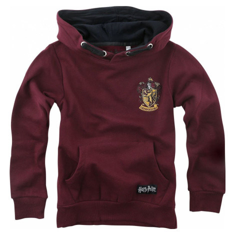 Harry Potter Kids - Gryffindor detská mikina s kapucí bordová