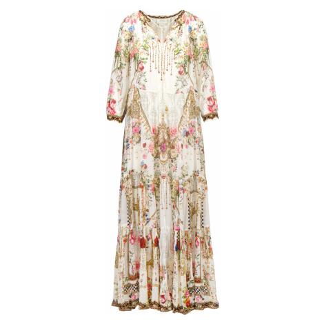 Šaty Camilla LONG GATHERED PANEL multicolor vzorkování
