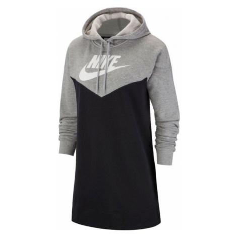 Nike NSW HRTG HOODIE DRESS SB bílá - Dámské šaty