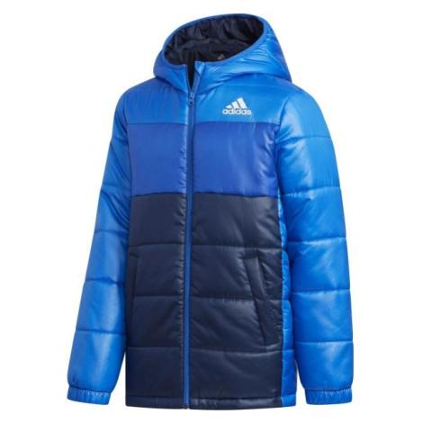 adidas YK J SYNTHETIC modrá - Juniorská zimní bunda