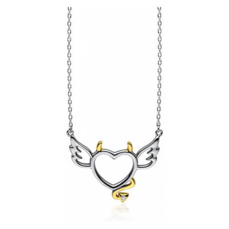 OLIVIE Stříbrný náhrdelník ANDĚL a ĎÁBEL 3400