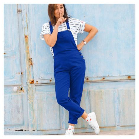 Blancheporte Kalhoty s laclem a postranními knoflíky tmavě modrá