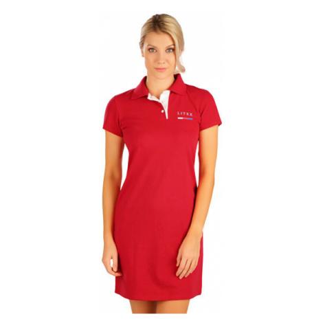 Dámské šaty s krátkým rukávem Litex 5B300 | červená