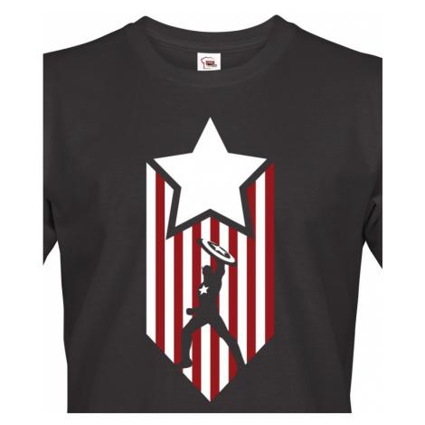 Pánské tričko s potiskem Kapitán Amerika - Captain America BezvaTriko
