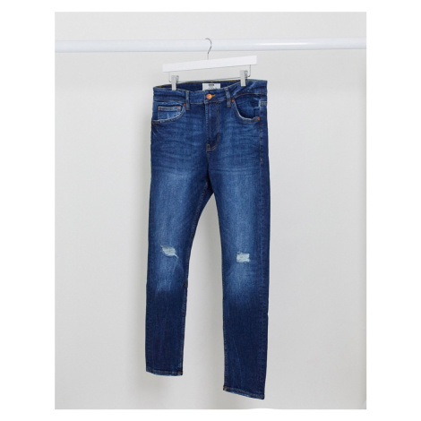 Bershka super skinny jeans in blue