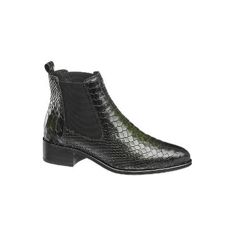 Tmavě zelená kožená obuv chelsea 5th Avenue