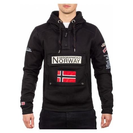 Pánská mikina s kapucí GEOGRAPHICAL NORWAY Gymclass Barva: Černá