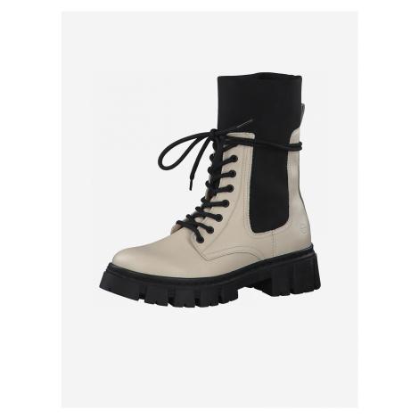 Kotníková obuv Tamaris Bílá