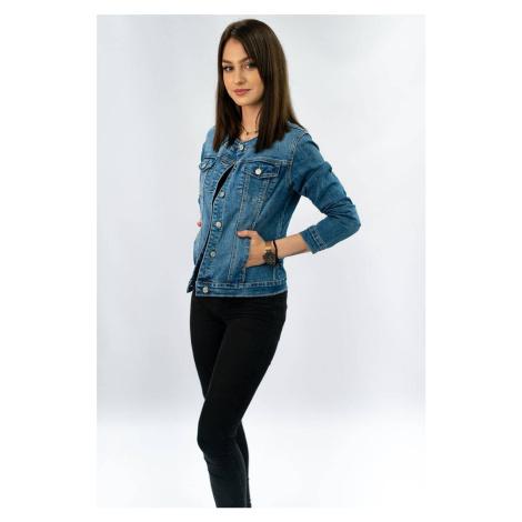 Krátká světle džínová dámská bunda (M1202)