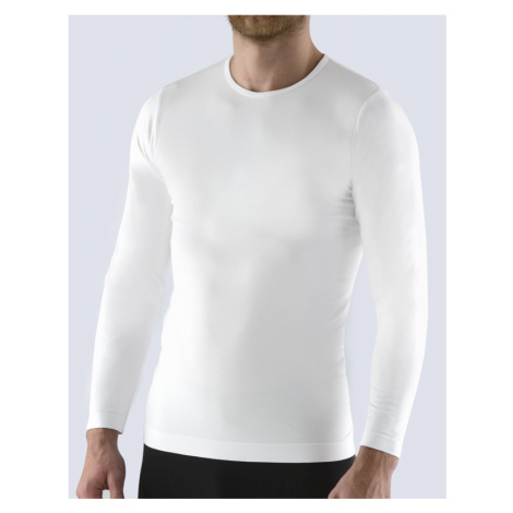 GINA Pánské tričko s dlouhým rukávem 58010-MxB bílá