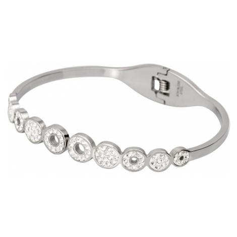 Linda's Jewelry Náramek Shiny Circles chirurgická ocel INR039