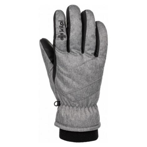 Lyžařské rukavice KILPI TATA-U světle šedá