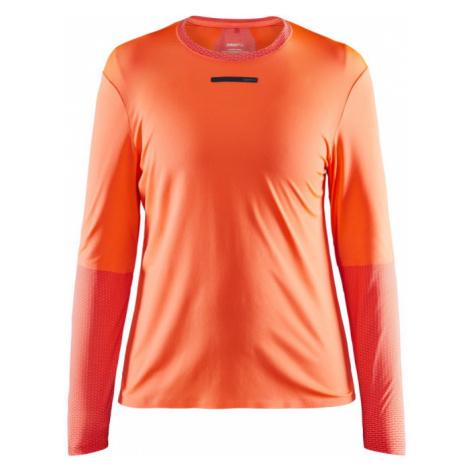 Dámské tričko CRAFT Vent Mesh LS oranžová