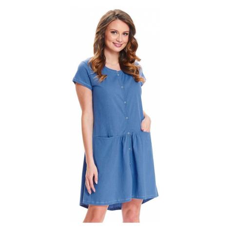 DN Nightwear Kojicí noční košile Bella modrá