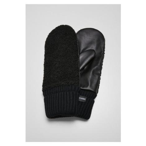 Sherpa Imitation Leather Gloves Urban Classics