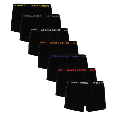 7PACK pánské boxerky Jack and Jones černé (12165587) Jack & Jones