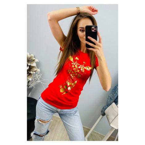 Strečové triko žirafa Barva: Červená