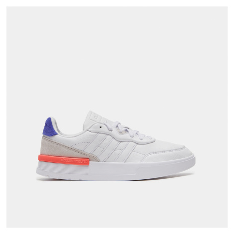 Bílé pánské kožené tenisky s barevnými prvky Adidas