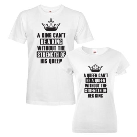 Párová trika King a Queen -  skvělý dárek nejen k Valentýnu BezvaTriko