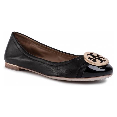 Baleríny TORY BURCH - Minnie Cap-Toe Ballet 63176 Perfect Black/Perfect Black 004