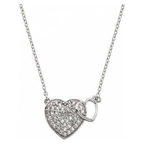 Hot Diamonds Stříbrný náhrdelník s pravým diamantem Flora DP730