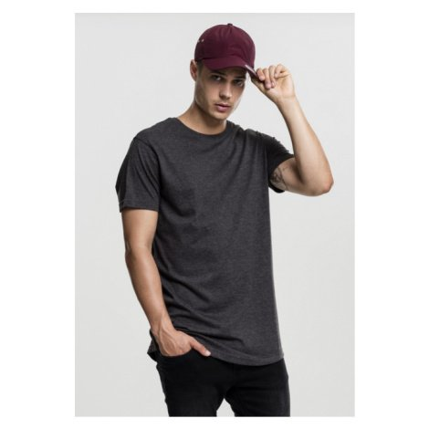 Tričko Urban Classics Shaped Melange Long Tee charcoal