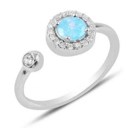 OLIVIE Stříbrný prsten MODRÁ STUDÁNKA 3902