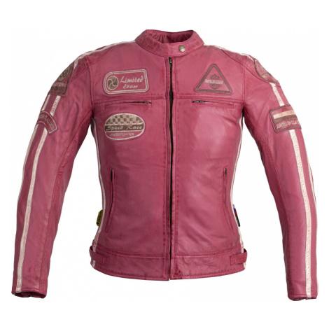 Dámská Kožená Moto Bunda W-Tec Sheawen Lady Pink Růžová