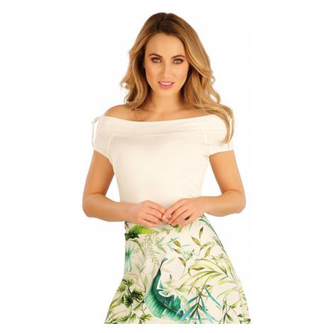 LITEX Tričko dámské s krátkým rukávem 5A164101 smetanová
