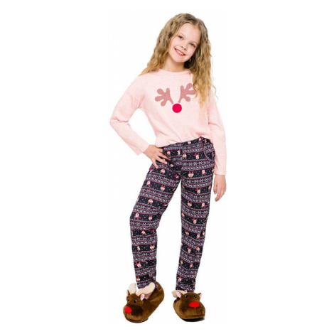 Dívčí pyžamo Sofinka lososové sob Taro