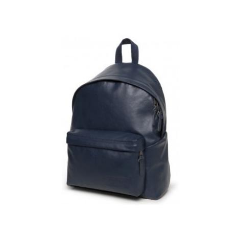 EASTPAK Modrý kožený batoh PADDED PAK'R