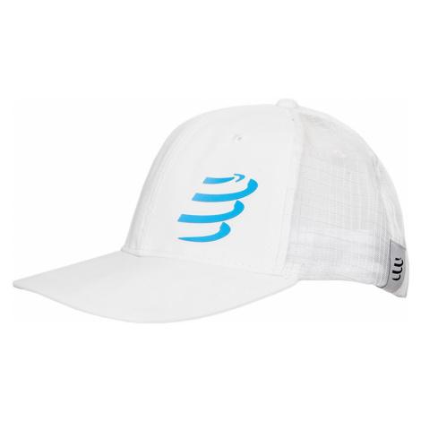 Kšiltovka Compressport RACING TRUCKER CAP bílá