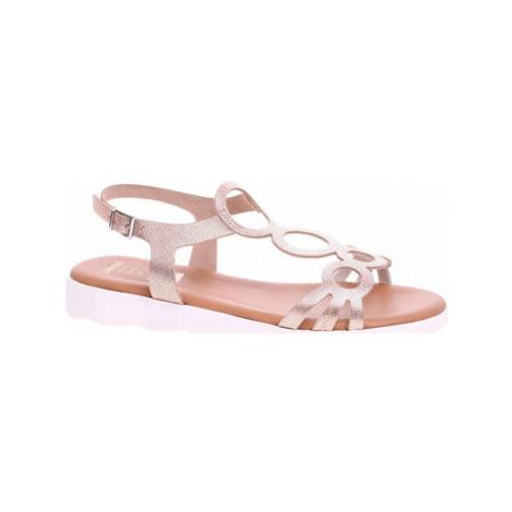 Rejnok Dovoz Dámské sandály Presso 4009 fancy cobre Růžová