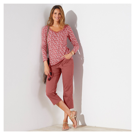 Blancheporte 3/4 strečové kalhoty terakota