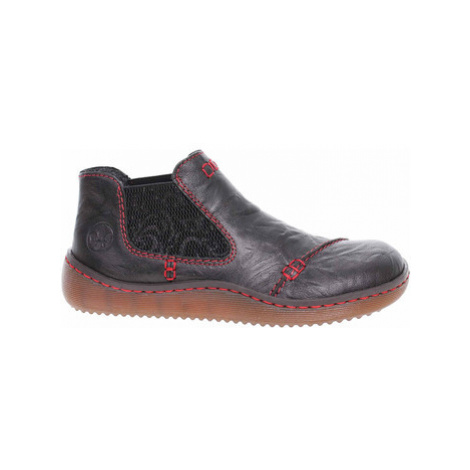 Rieker Dámská kotníková obuv L8491-00 schwarz Černá