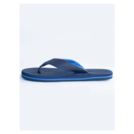Big Star Man's Flip floops Shoes 208040 Blue Tworzywo sztuczne-403