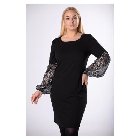 dress with chiffon sleeves Ptakmoda