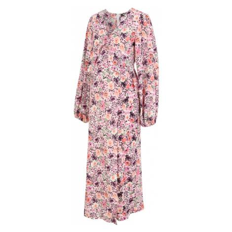 Missguided Maternity Šaty pink / fialová / korálová / zelená
