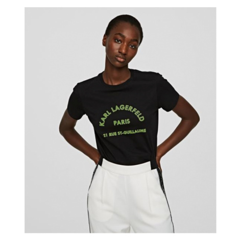 Tričko Karl Lagerfeld Address Logo T-Shirt - Černá
