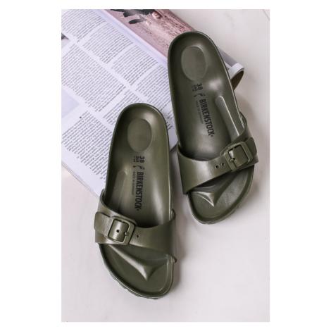Hnědo-zelené pantofle Madrid EVA