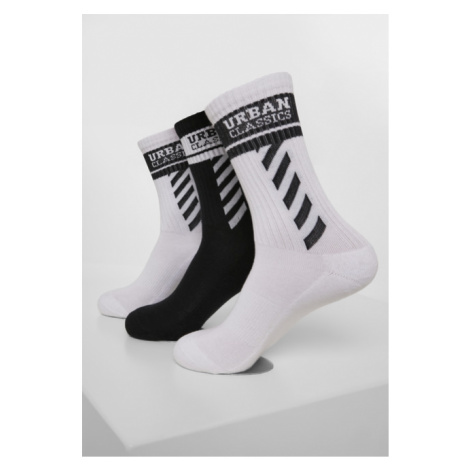 Urban Classics Sporty Logo Socks 3-Pack white/black/white