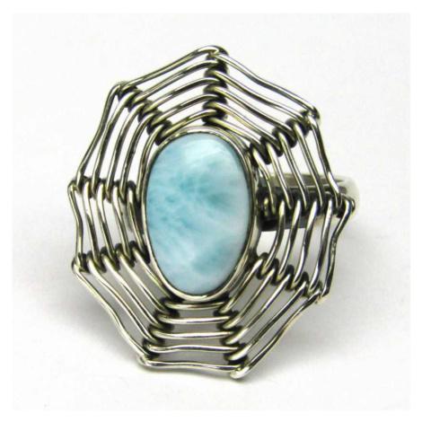 AutorskeSperky.com - Stříbrný prsten s larimarem - S4511