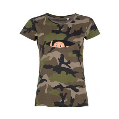 Dámské maskáčové tričko Miminko v břiše