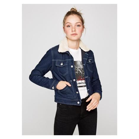 Pepe Jeans dámská zateplená džínová bunda FRIDA WORK