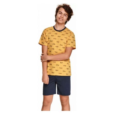Dětské pyžamo Taro 390 104 Zlatá Zlatá