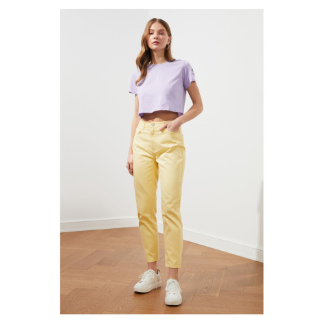 Trendyol Yellow High Waist Mom Jeans