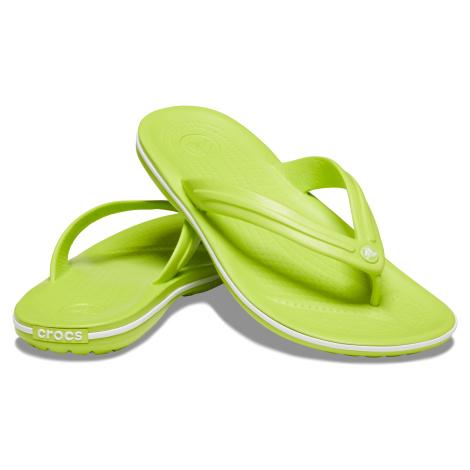 Crocs Crocband Flip Lime Punch/White
