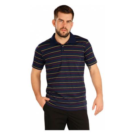 Pánské polo triko s krátkým rukávem Litex 5A404   pruhy