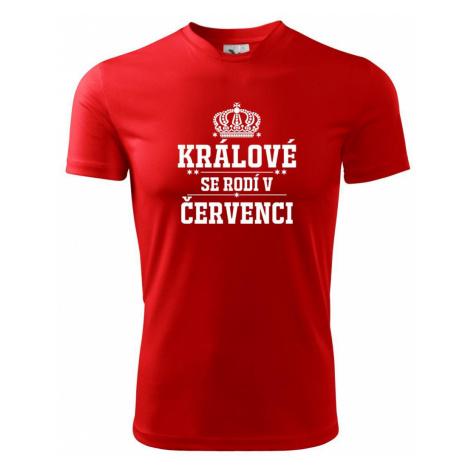 Králové se rodí v červenci - Pánské triko Fantasy sportovní (dresovina)