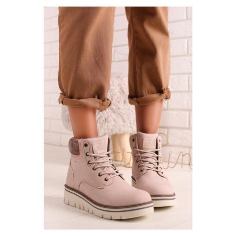 Světle růžové kotníkové boty 44357 Xti